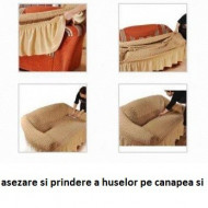 Husa elastica pentru Canapea 3 Locuri - culoare Antracit