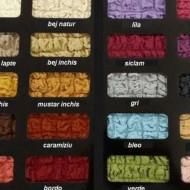 Husa elastica pentru coltar cu volanas culoare Mustar Deschis
