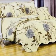 Cuvertura de pat din bumbac brodat + fete perna ES10