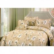 Cuvertura de pat din bumbac brodat + fete perna ES17