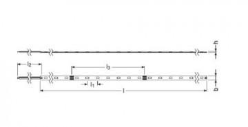 Bandă LED flexibilă - Osram VF600 830 4,6W/m 24V rolă 5m alb-cald