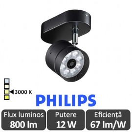 Poze Philips - Proiector LED ST120C 12W/830 orientabil, alb-cald