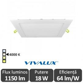 Vivalux Panou GRID LED Panel 18W CL/W 4000K Alb