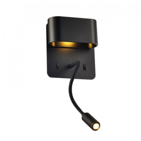 CORP ILUMINAT ACA LIGHTING V86LEDW45BK APLICA NEGRU LED