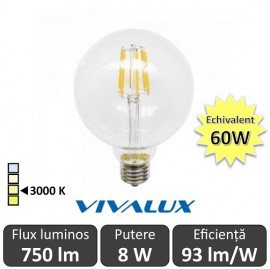 Bec LED Glob Vivalux 8W 750lm E27 GGF125
