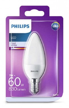 Bec LED Philips - CorePro LEDcandle 7-60W E14 230V B38 alb-neutru