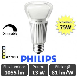 Bec LED Philips - Master LEDbulb 13W A67 230V Dim E27 alb-cald