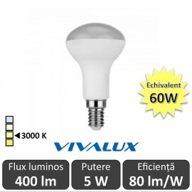 Bec LED Reflector Vivalux 5W 400lm E14 3000K