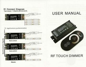 Dimmer profesional telecomanda RF, 25A, 12-24V