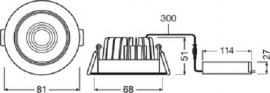 OSRAM Ledvance Spot Led Dimabil 8W Alb 3000/4000K IP44
