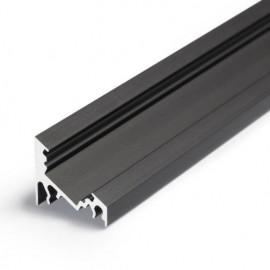 Profil LED de colț CORNER 10, negru anodizat, lungime 2m