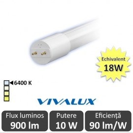 Poze Tub LED Vivalux Royal LED 10W T8 600mm 6400K alb-rece