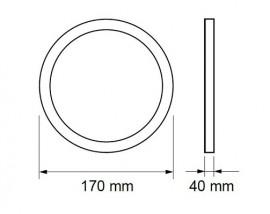 Ultralux Panou Led Rotund 12W Alb-Neutru LPRS1801242