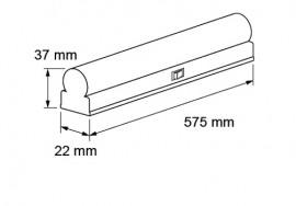 Ultralux Tub LED Thermoplastic 7W T5 650mm 6000K alb-rece