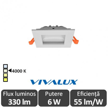 Vivalux ENZO LED 6W alb-neutru