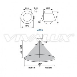 Vivalux Moon SR36 Senzor infrarosu