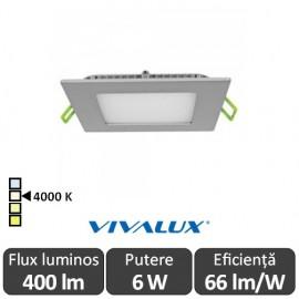 Vivalux Panou GRID LED Panel 6W CL/SR 4000K Aluminiu
