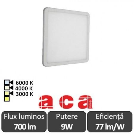 ACA Lighting Panou Led Pătrat Flexi Alb 9W