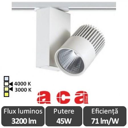 ACA Reflector interior șina Bienal 45W 3000/4000K Alb/Negru/Gri
