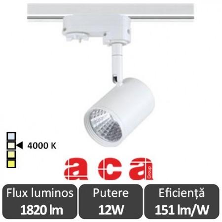 ACA Reflector interior sina Zuno 12W 4000K Alb/Negru/Gri
