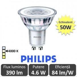 Bec LED Philips - CorePro LEDspotMV 4.6-50W GU10 840 36D alb-neutru