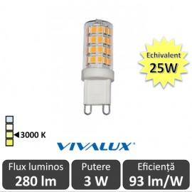 Bec Vivalux - BRILA LED 3W G9 alb-cald