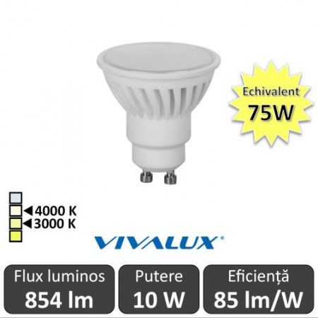 Bec Led Vivalux Force Led 10W GU10