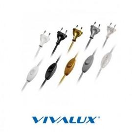 Cablu conectare cu întrerupător alb