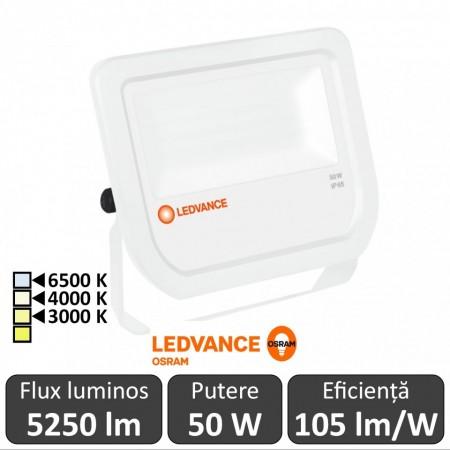 Osram Ledvance - Proiector LED de Exterior 50W IP65 3000/4000/6500K WT