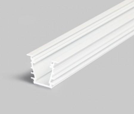 Profil LED încastrat DEEP 10, alb, lungime 2m