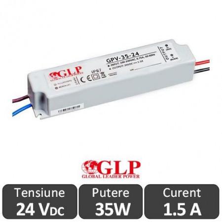 Sursa alimentare GLP LED 35W 24V IP67