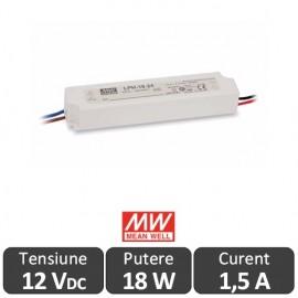 Sursa alimentare LED 18W 12V IP67