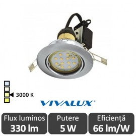Vivalux ARLO LED 5W GU10 3000K ( Alb-Cald )