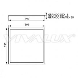 Vivalux GRANDO LED Alb 40W  4000K ( Alb-Neutru )
