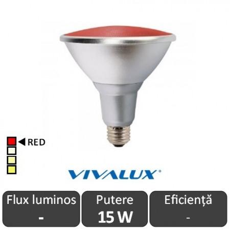 Vivalux PAR38 LED 15W E27 Roșu
