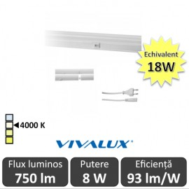 Poze Vivalux Tub SPICA LED  8W T5 880mm 4000K alb-neutru