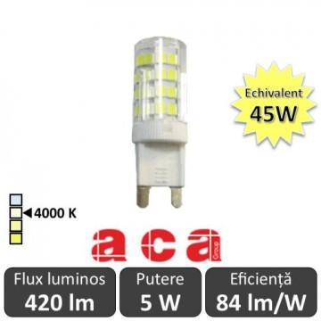 Bec Aca - LED 5W G9 5W alb-neutru