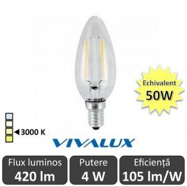Bec LED Clasic Vivalux 4W 420lm E14 BF35