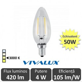 Poze Bec LED Clasic Vivalux 4W 420lm E14 BF35