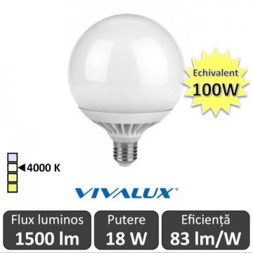 Bec LED Glob 18W G120 230V E27 alb-neutru