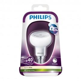 Bec LED Philips - LEDreflector R50 4,5W 230V E14 36D DIM alb-cald