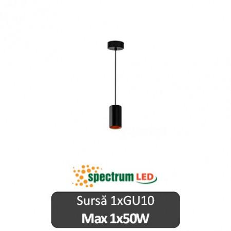 Lampă suspendată Spectrum negru 1xGU10