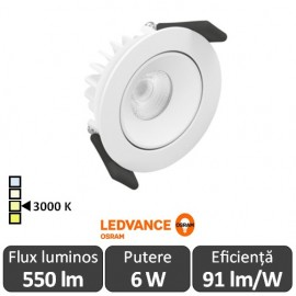 OSRAM Ledvance Spot Led Orientabil 6W Alb 3000 K