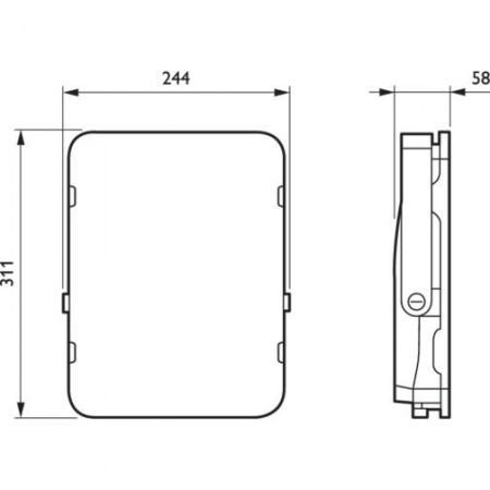 Philips-Proiector LED BVP155 100W alb-neutru