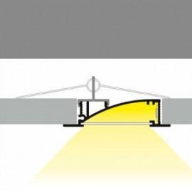 Profil LED încastrat FLAT 8, negru, lungime 2m