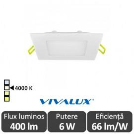 Vivalux Panou GRID LED Panel 6W CL/W 4000K Alb
