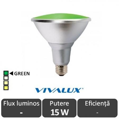 Vivalux PAR38 LED 15W E27 Verde