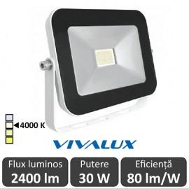 Vivalux - Proiector TREND LED de Exterior 30W IP65 4000K Alb-Neutru Culoare Alb