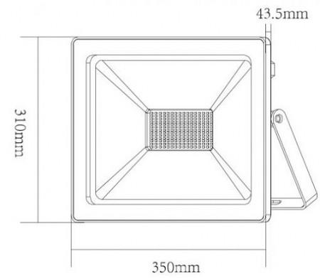 Aca Lighting - Proiector LED de Exterior 150W IP66 Alb/Negru