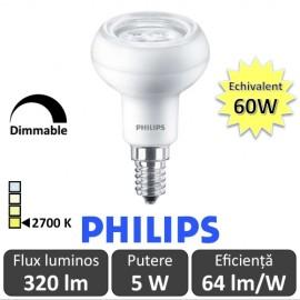 Poze Bec LED Philips - CorePro LED spot MV 5W R50 230V E14 alb-cald